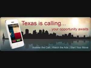 Click on the image to listen to Gov. Perry ad