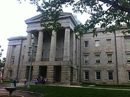 North Carolina State Capitol. Image by Abbylabar (Own work) [CC-BY-SA-3.0 (http://creativecommons.org/licenses/by-sa/3.0)], via Wikimedia Commons